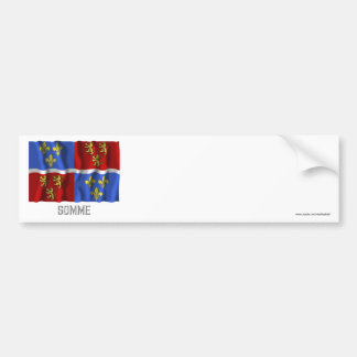 Somme waving flag with name car bumper sticker