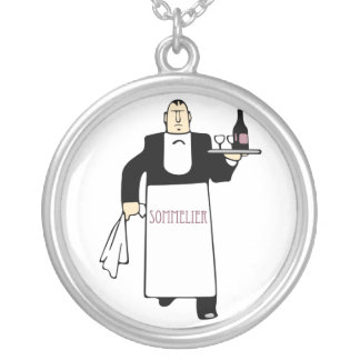 Sommelier Round Pendant Necklace