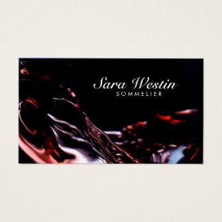 Sommelier Script Wine Flow Business Card