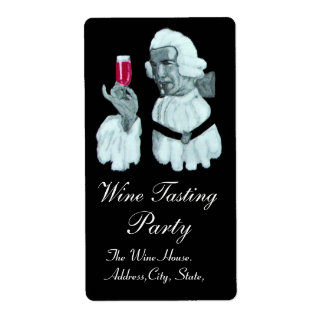 SOMMELIER WINE TASTING PARTY CUSTOM SHIPPING LABELS