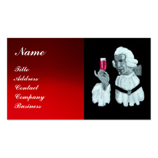 SOMMELIER WINE TASTING  PARTY,RED WAX SEAL BUSINESS CARD TEMPLATES