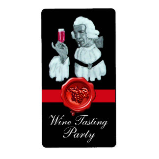 SOMMELIER WINE TASTING  PARTY,RED WAX SEAL LABEL