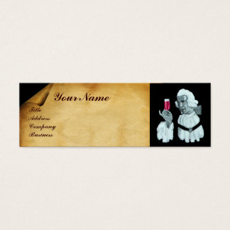 SOMMELIER WINE TASTING  PARTY,RED WAX SEAL MINI BUSINESS CARD