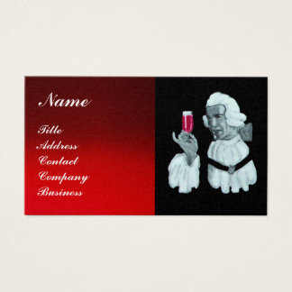 SOMMELIER WINE TASTING  PARTY,RED WAX SEAL,Pearl Business Card