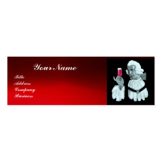 SOMMELIER WINE TASTING  PARTY,RED WAX SEAL,Pearl Double-Sided Mini Business Cards (Pack Of 20)