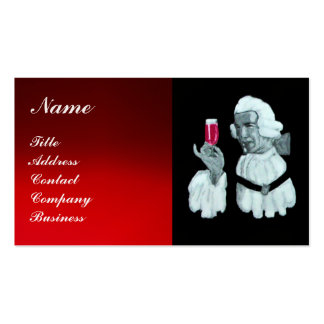 SOMMELIER WINE TASTING  PARTY,RED WAX SEAL,Pearl Double-Sided Standard Business Cards (Pack Of 100)
