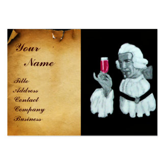 SOMMELIER WINE TASTING  PARTY,RED WAX SEAL,Pearl Large Business Card