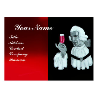 SOMMELIER WINE TASTING  PARTY,RED WAX SEAL,Pearl Large Business Cards (Pack Of 100)