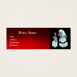 SOMMELIER WINE TASTING  PARTY,RED WAX SEAL,Pearl Mini Business Card