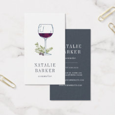Sommelier | Winemaker | Wine Industry Business Card at Zazzle
