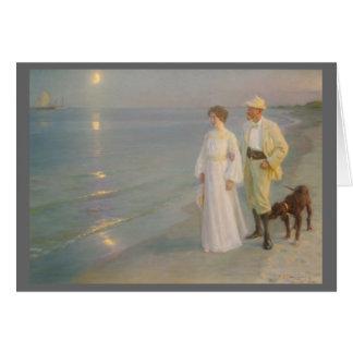 Sommeraften ved Skagens (la playa iluminada por la Tarjeta De Felicitación