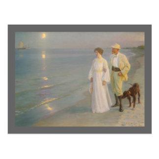Sommeraften ved Skagens (la playa iluminada por la Postal