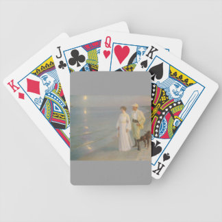 Sommeraften ved Skagens (Moonlit Summer Beach) Bicycle Playing Cards