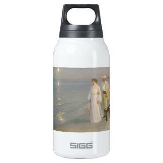 Sommeraften ved Skagens (Moonlit Summer Beach) Thermos Bottle