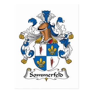 Sommerfeld Family Crest Postcard