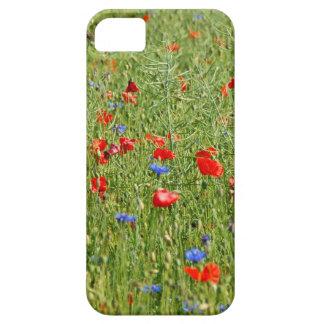Sommerfeld mit roten und blauen Blumen iPhone SE/5/5s Case