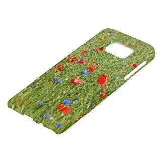 Sommerfeld mit roten und blauen Blumen Samsung Galaxy S7 Case