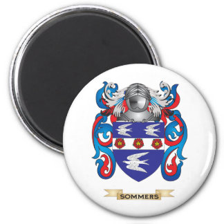 Sommers Coat of Arms Family Crest Magnet