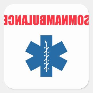 Somnambulance Square Sticker