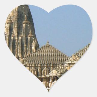 SOMNATH TEMPLE  GUJARAT INDIA HEART STICKER