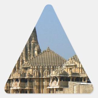 SOMNATH TEMPLE  GUJARAT INDIA TRIANGLE STICKER