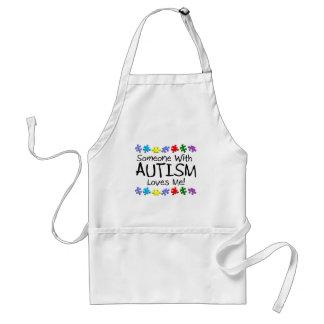 Somone con autismo me ama (los PP) Delantales