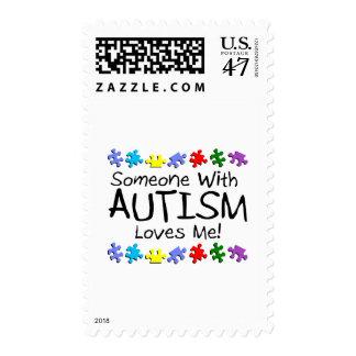 Somone con autismo me ama (los PP) Estampillas