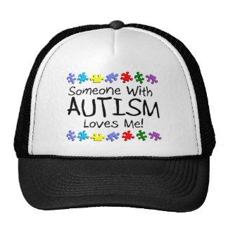 Somone con autismo me ama (los PP) Gorros Bordados