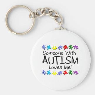 Somone con autismo me ama (los PP) Llaveros Personalizados