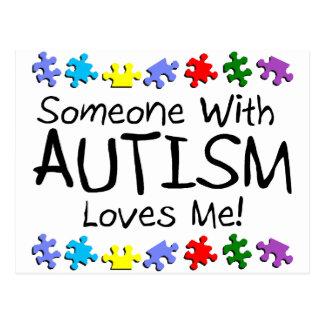 Somone con autismo me ama (los PP) Postal