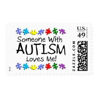 Somone con autismo me ama (los PP) Timbres Postales