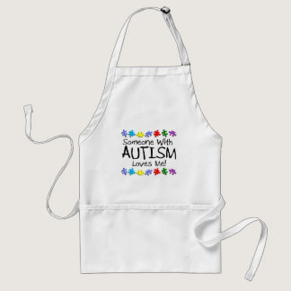 Somone With Autism Loves Me (PP) Adult Apron