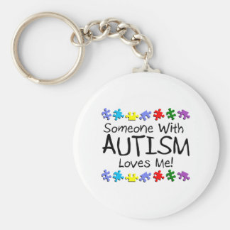 Somone With Autism Loves Me (PP) Keychain