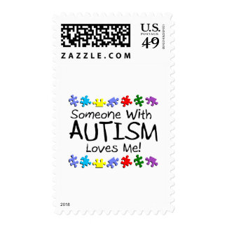 Somone With Autism Loves Me (PP) Postage Stamps