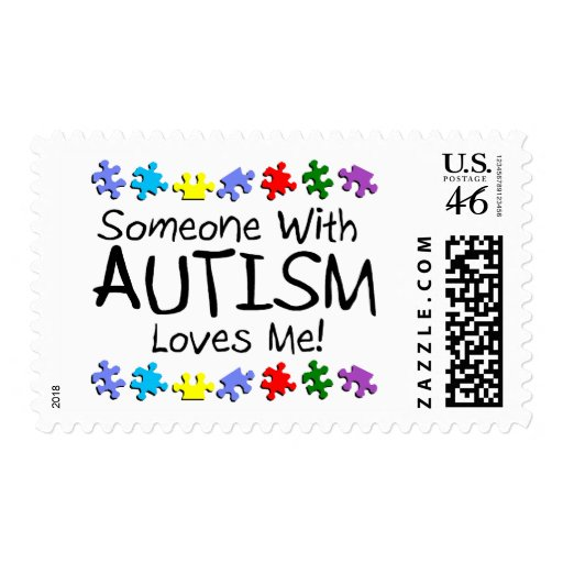 Somone With Autism Loves Me (PP) Postage