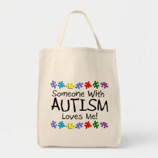 Somone With Autism Loves Me (PP) Tote Bag