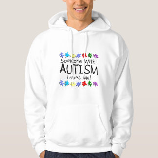 Somone With Autism Loves Me (Puzzle) Hoodie