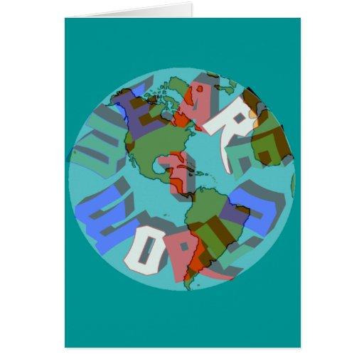 Somos 1 tarjeta de felicitación del mundo