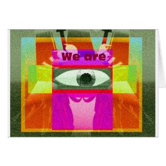 Somos 2 tarjeta de felicitación