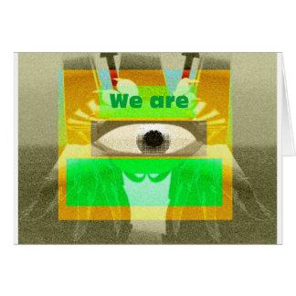 Somos 3 tarjeta de felicitación