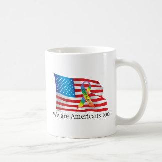 ¡Somos Amercians también! Taza