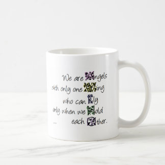 Somos ángeles tazas de café