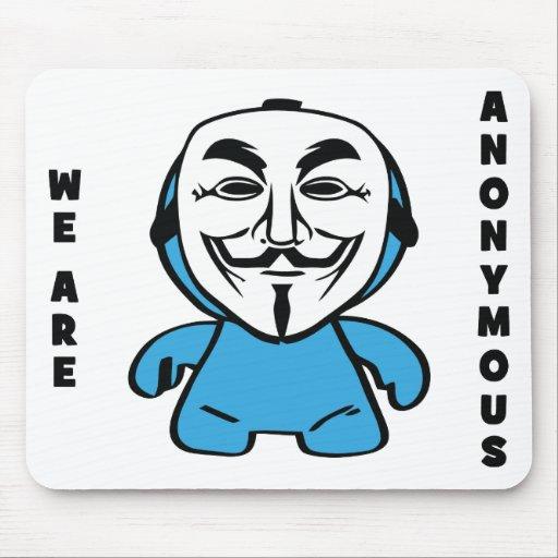 Somos anónimos alfombrillas de ratón