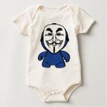 Somos anónimos body para bebé
