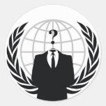 Somos anónimos etiquetas redondas