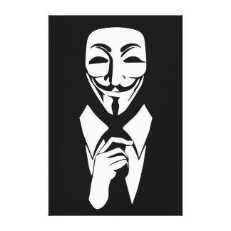 Somos anónimos impresión en lona estirada