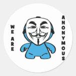 Somos anónimos pegatina redonda