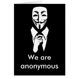 Somos anónimos tarjeta de felicitación