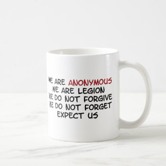 Somos anónimos taza de café