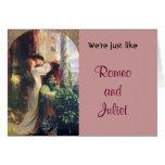 Somos apenas como la tarjeta del humor de Romeo y